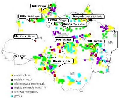 Resultado de imagem para Projetos Minerais no Norte Nordeste