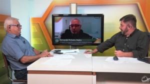 João Batista Olivi, Fernando Pinheiro Pedro e Alex Horta no Canal Notícias Agrícolas