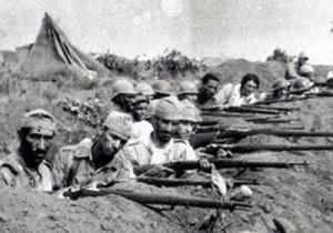 Maria Sguassábia na trincheira