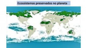 Com exceção do ecossistema amazônico, os demais ecossistemas preservados são desertos ou tundras gélidas