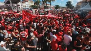 Manifestação de apoio a Lula em Recife-PE