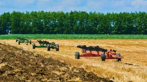 Agricultural Equipment on Field