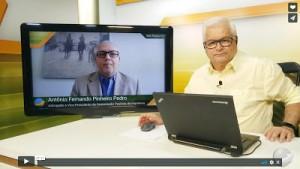 Antonio Fernando Pinheiro Pedro e João Batista Olivi no Canal Notícias Agrícolas